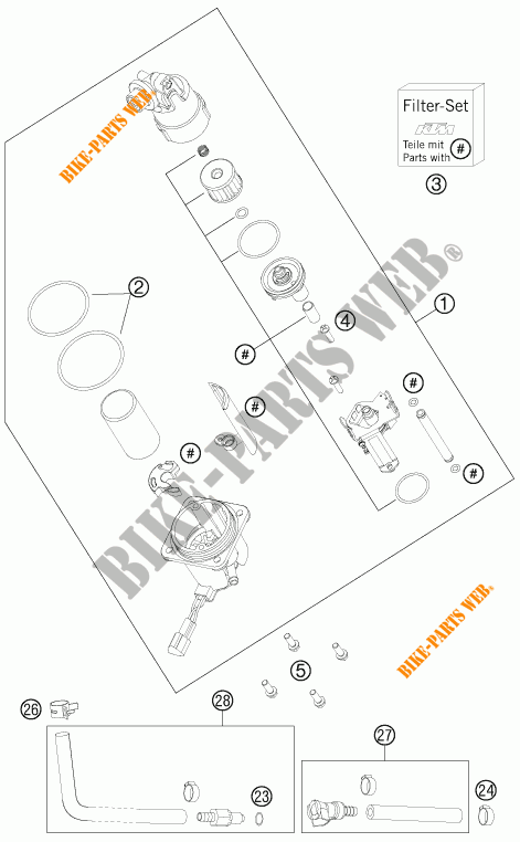 KTM KIT FILTRI POMPA BENZINA 990 ADVENTURE 61007090100