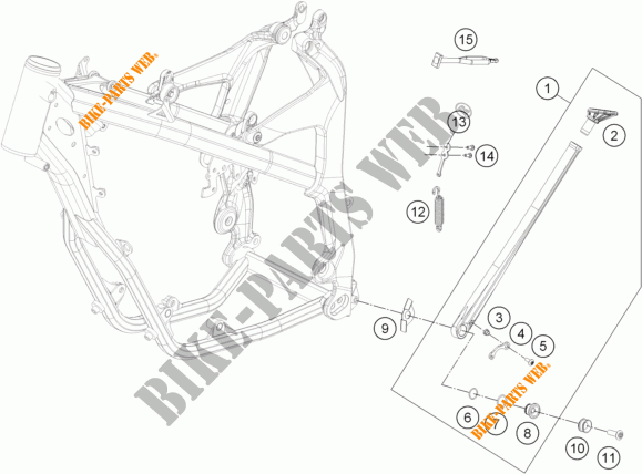 KTM  ELASTICO CAVALLETTO LATERALE EXC FREERIDE 50303018000